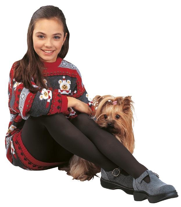Dívčí punčochové kalhoty TERKA 999 černé