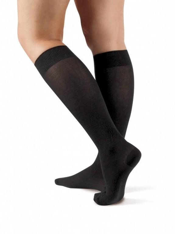 Podkolenky s bavlnou SETA 999 černé