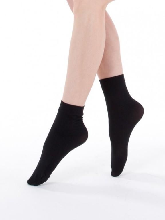 Neprůhledné ponožky MADLA 999 černé