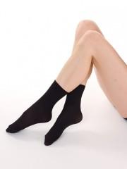 Neprůhledné ponožky MADLA 999 černé č.2