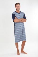 Pánská noční košile KEVIN modrý proužek č.1