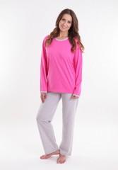 Dámské pyžamo P1407 růžové č.1