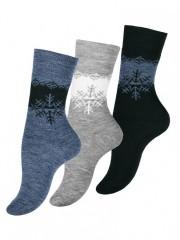 Dámské vzorované termo ponožky 4050 č.1