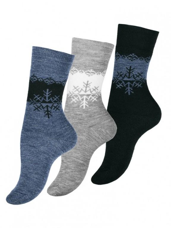 Dámské vzorované termo ponožky 4050