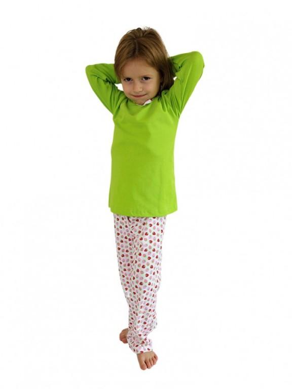 Dívčí pyžamo P 1414 jahůdky
