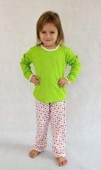 Dívčí pyžamo P 1414 jahůdky č.2