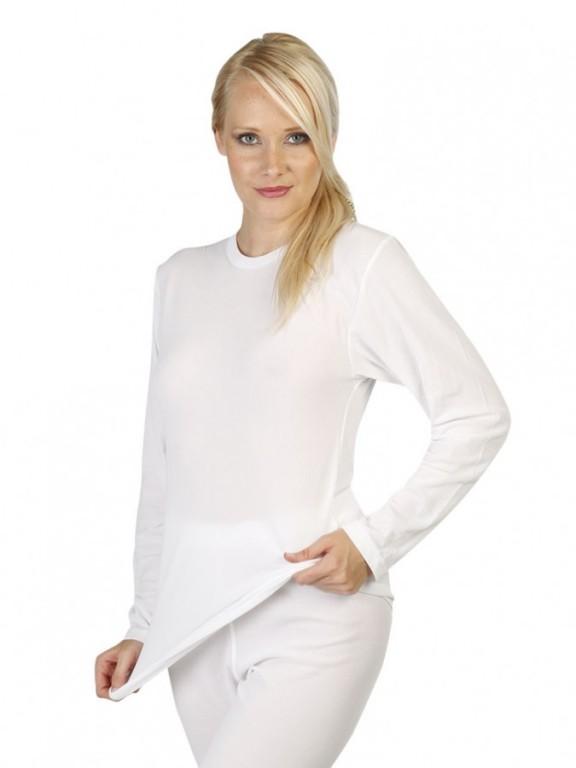Dámské triko s dlouhým rukávem RENATA bílé