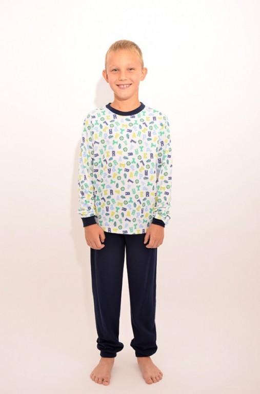 Chlapecké pyžamo ALEX modré káro