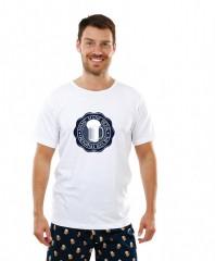 Pánské triko s PIVNÍ PEČETÍ bílé č.1