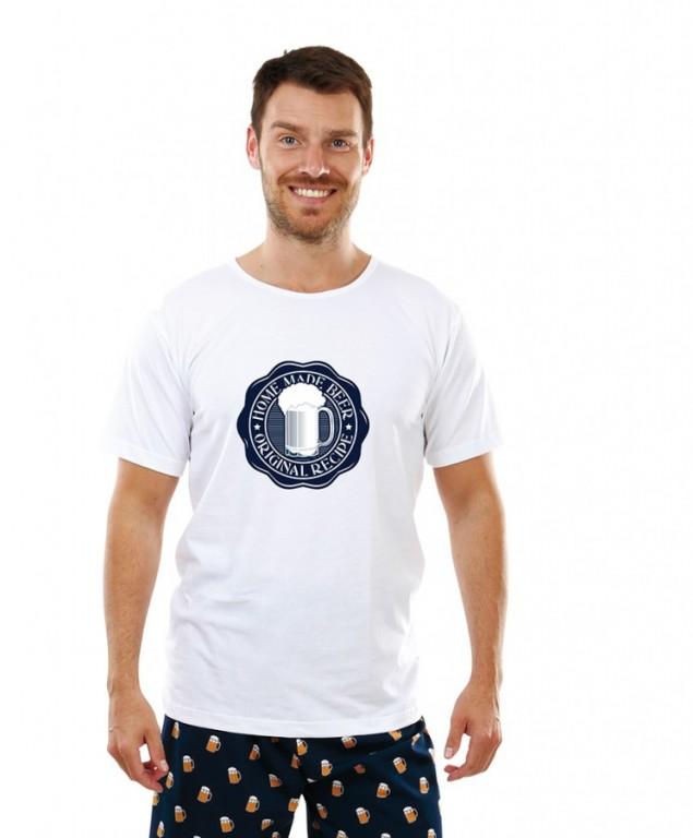 Pánské triko s PIVNÍ PEČETÍ bílé