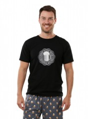Pánské triko s PIVNÍ PEČETÍ černé č.1
