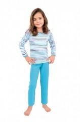 Dívčí pyžamo P 1413 proužky č.1