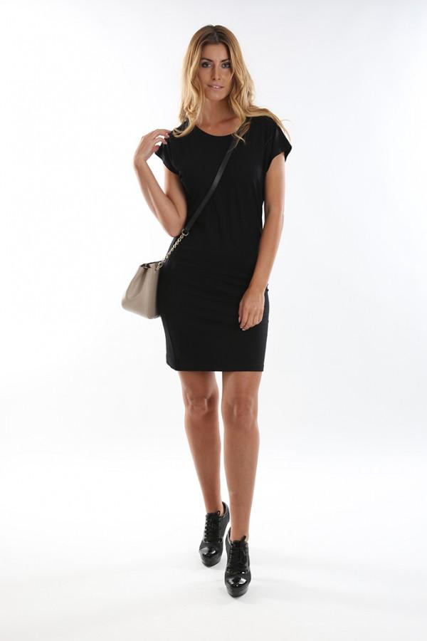 9d8ff7435 Dámské černé krátké šaty. Tip Doprava zdarma