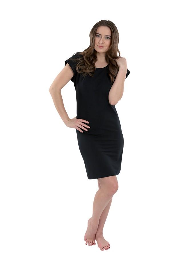 Dámské černé krátké šaty  12b13bbdee