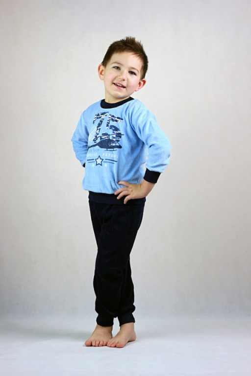Dětské froté pyžamo modré