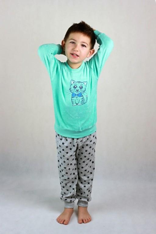 Dětské froté pyžamo tyrkysové