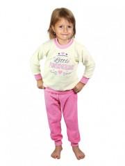 Dětské froté pyžamo žluto-růžové č.1