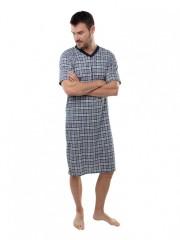 Pánská noční košile KEVIN šedo-vínová č.2