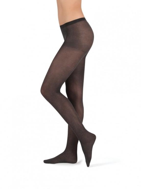 Módní punčochové kalhoty MELANGE 999 černé