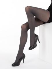 Módní punčochové kalhoty MELANGE 999 černé č.4