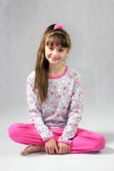 Dívčí pyžamo P 1413 srdce šedé č.2