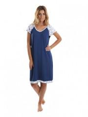 Bambusová noční košile ARIEL modrá č.1