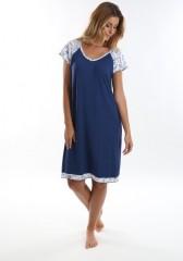 Bambusová noční košile ARIEL modrá č.2