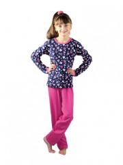 Dívčí pyžamo P 1413 srdce modré č.1
