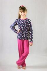 Dívčí pyžamo P 1413 srdce modré č.2