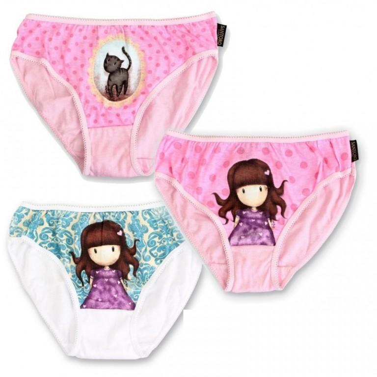3 PACK dívčích kalhotek SANTORO LONDON GORJUSS