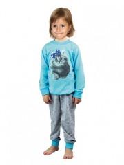 Dětské dlouhé pyžamo KITTY azurové č.1