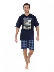 Pánské krátké pyžamo AIRO modré č.1
