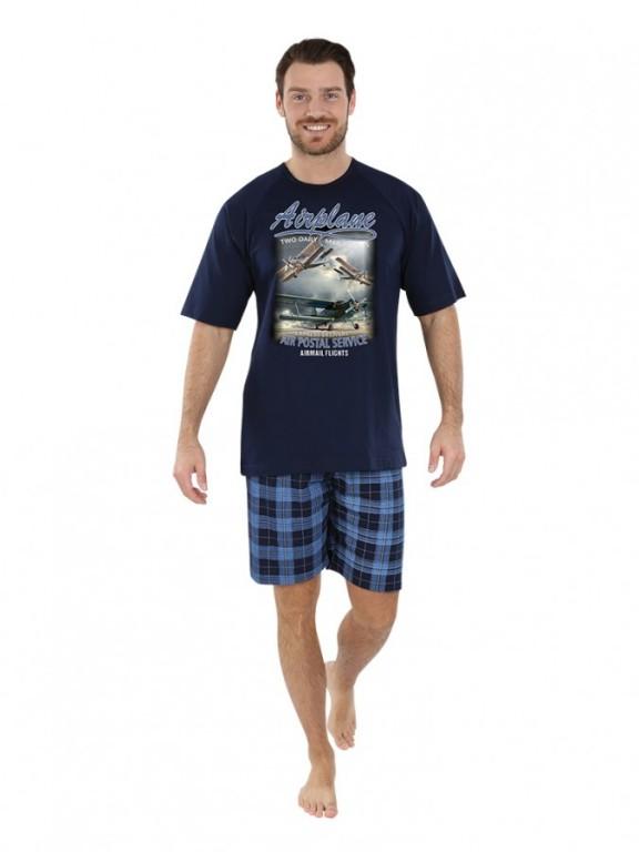 Pánské krátké pyžamo AIRO modré
