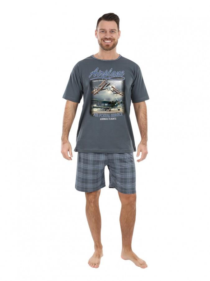 77faa590f7ef Pánské krátké pyžamo AIRO šedé