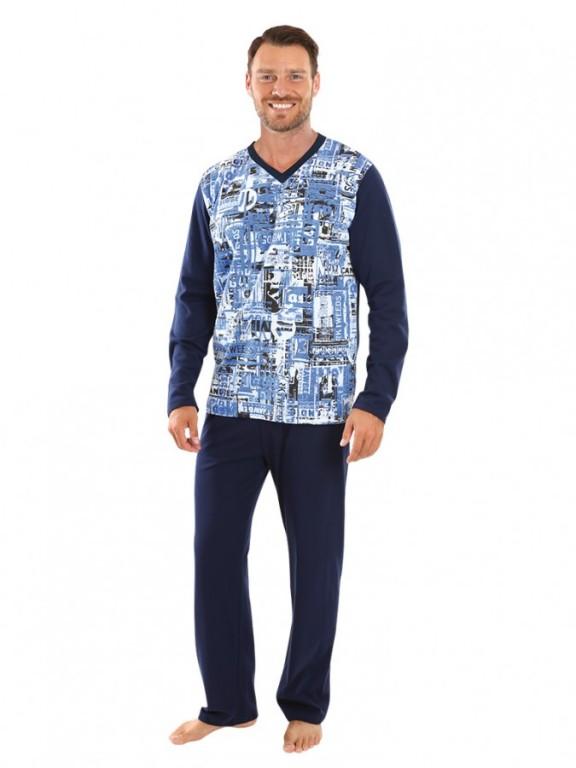 Pánské dlouhé pyžamo SVEN modré