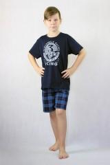 Chlapecké krátké pyžamo AUTOMOBILE modré č.1