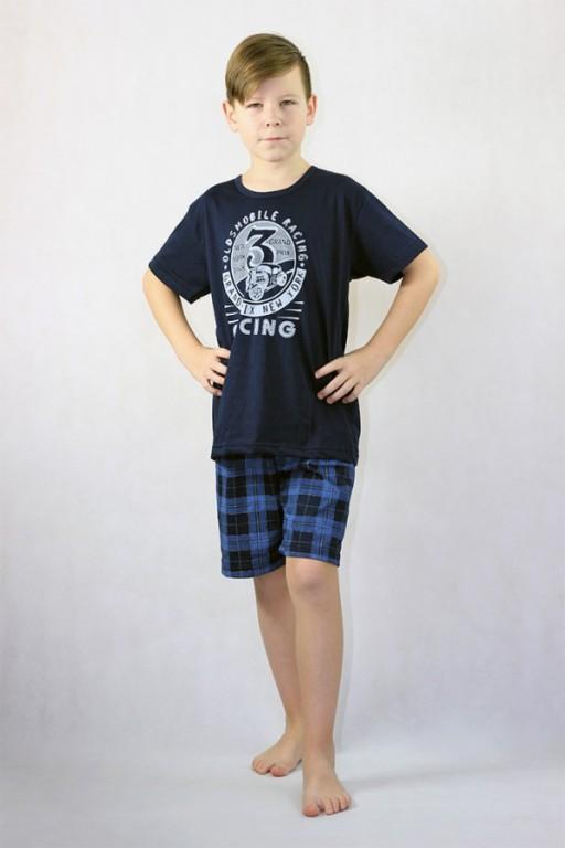 Chlapecké krátké pyžamo AUTOMOBILE modré