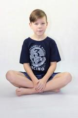 Chlapecké krátké pyžamo AUTOMOBILE modré č.2