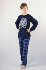 Chlapecké krátké pyžamo AUTOMOBILE modré č.3