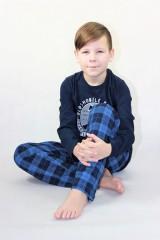 Chlapecké krátké pyžamo AUTOMOBILE modré č.4