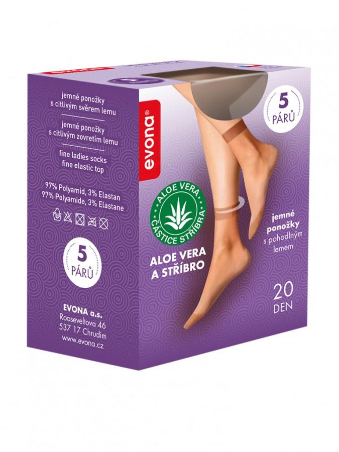 cd89f51a5a6 Dámské ponožky SILVERA 1004 tělové 5 pack
