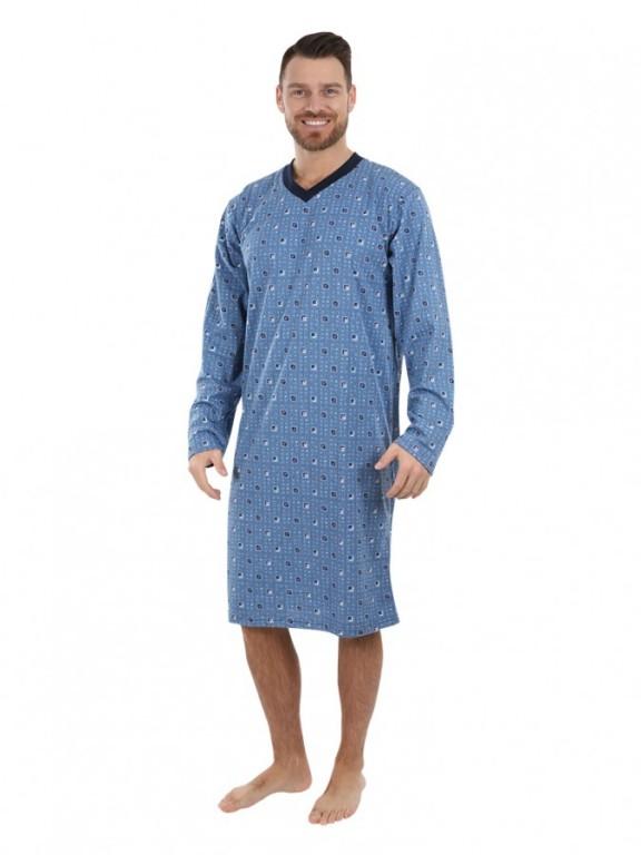 Pánská noční košile P1408 modrá
