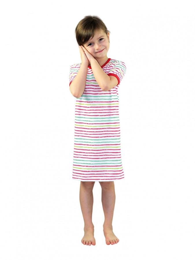 EVONA a.s. Dívčí noční košile P1415 proužky - Dívčí noční košile P1415 proužky 050 110