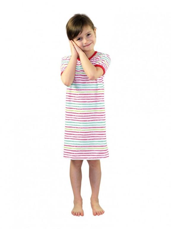Dívčí noční košile P1415 proužky