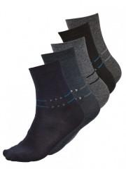 5 PACK dámských vzorovaných ponožek 5025 č.1