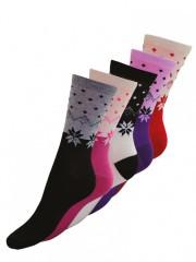 5 PACK dámských vzorovaných ponožek 6603 č.1