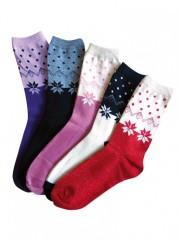 5 PACK dámských vzorovaných ponožek 6603 č.2
