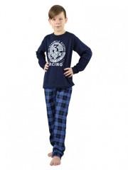 Chlapecké dlouhé pyžamo OLDSMOBILE modré č.1