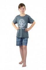 Chlapecké krátké pyžamo AUTOMOBILE šedé č.1