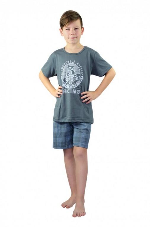 Chlapecké krátké pyžamo AUTOMOBILE šedé